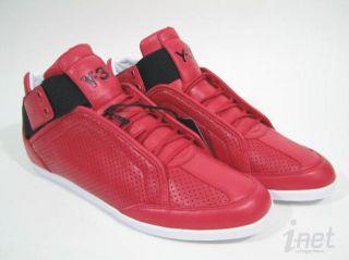 Yohji Yamamoto Adidas Y 3 Kazuhiri Mid Top Shoe Sneaker Lace Up Red