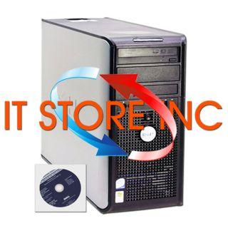REFURBISHED DELL CORE 2 DUO 3GB RAM DVDRW DVD BURNER XP PRO WIRELESS