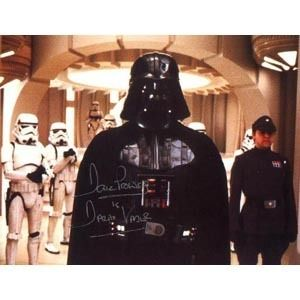 David Prowse as Star Wars Darth Vader Autograph