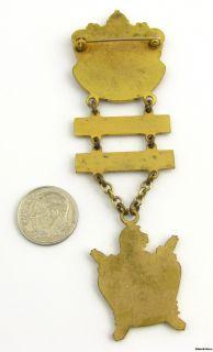 DEMOLAY   Vintage Masonic Merit Ritual Member Crest Medal Jewel