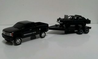 CUSTOM 91 Crown Vic Demolition Derby Car w/ Custom Chevy Silverado
