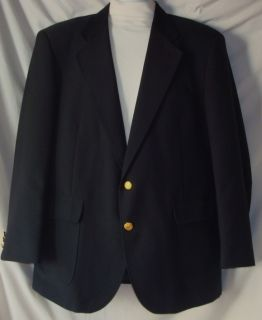 Mens David Taylor Navy Wool Sport Jacket Size 42R