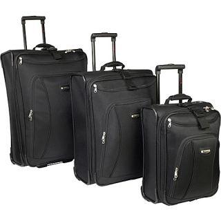 Delsey Helium Alliance 3 Piece Luggage Set Black