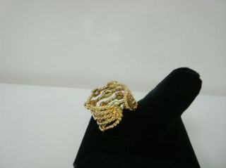 David Yurman 18kt Yellow Gold Confetti Ring Nice