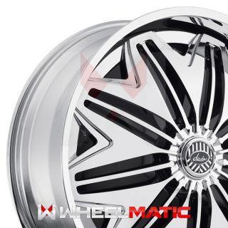 Set of 4 New 24 Davin Spinners PWRFL 24x9 5x115/120 +15 Wheels Rims