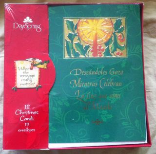 DaySpring Boxed Spanish Christmas Cards Tarjetas Navidenas De