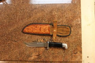 Hand Tooled Leather Knife Sheath for Buck 119