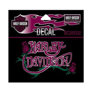 Harley Davidson Nouveau Rose Decal 4 3 4 w x 2 1 4 H