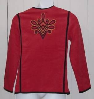 Bob Mackies Plush Fleece Embroidered Jacket Size S
