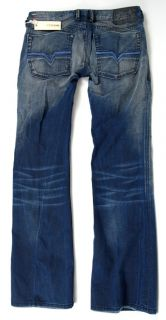 New Diesel Mens Designer Denim Premium Boot Cut Jeans Zathan Wash