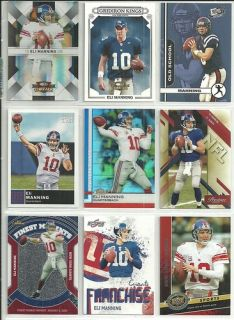 Huge Eli Manning 200 Card All Different Lot Giants