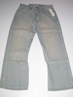 Mens Light Blue Denim Jeans Pants Pant Button Pockets New Mens