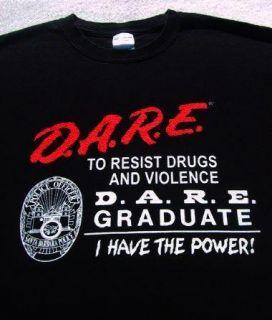 Dare to Resist Drugs Violence XL T Shirt Santa Barbara California