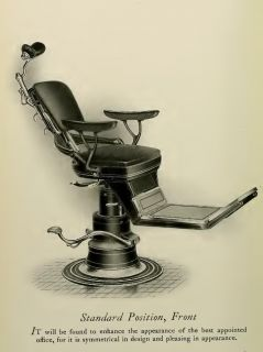 The Ritter Chair Standard Position Dental Dentist Antique 13x19 Print