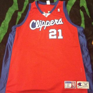 Rare Authentic Darius Miles Los Angeles Clippers Champion Jersey Size