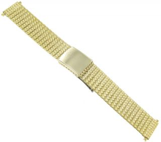 Steel 10K Gold Plated Vintage Deployment Buckle Watch Band