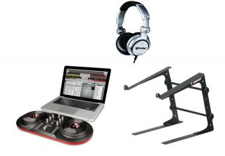 iCUE3 DISCOVER DJ USB Turntable Computer System + Odyssey Laptop Stand