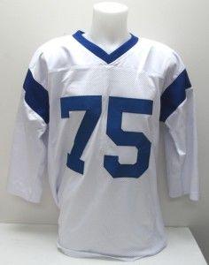 Deacon Jones Signed Los Angeles Rams White Custom Jersey JSA