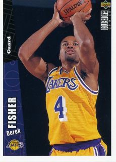 97 UPPER DECK COLLECTORS CHOICE DEREK FISHER LOS ANGELES LAKERS MINT