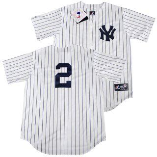 New York Yankees Derek Jeter Home Sewn Jersey L