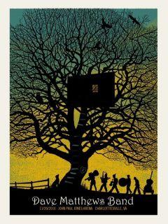 Dave Matthews Band Poster Charlottesville 11 20 10 466 650