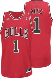 Derrick Rose Jersey Adidas Revolution 30 Red Swingman 1 Chicago Bulls