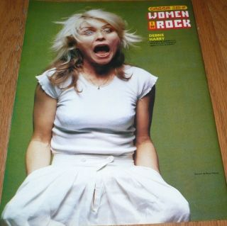Debbie Harry Pinup clipping Yelling 80s Blondie