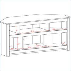 Prepac Vasari Flat Panel Plasma LCD Corner TV Stand