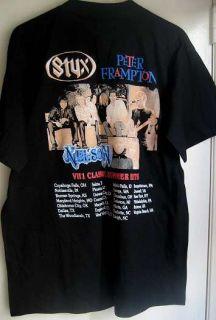 Matthew Gunnar Nelson 2004 STYX Frampton Tour Shirt   Signed
