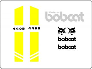 440B New Decal Kit Set Skid Loader Skid Steer Bobcat IR XCX Decals