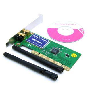 802 11b G N Wireless WiFi Card Adapter for Desktop PC Laptop
