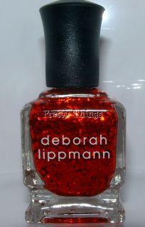 Deborah Lippmann Nail Polish Do Ya Think Im Sexy NEW Red Sequins