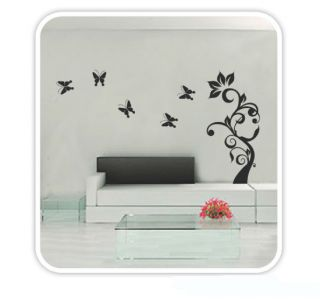 Tree Butterfly DIY Wall Decor Sticker Mural Decals bedroom Home Decor