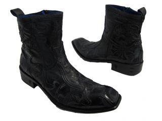 Mark Nason Mens Declan New Black Leather Boots Size 9