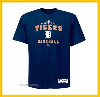 NEW MLB Detroit Tigers Property Of T Shirt Mens Size Large Navy