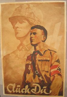 Deutch German WWII Poster Print with Elite Soldier Image