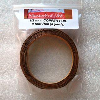 Feet Copper Foil Tape 1 2 Extra Wide 4 Solder Art