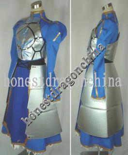 Fate Stay Night Saber Cosplay Costume Blue Dress Custom
