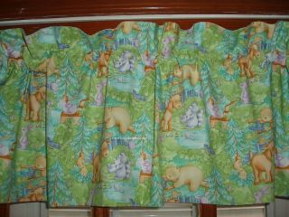 Bear Bunny Rabbit Lined Baby Animal Valance with Little Forest Cathy