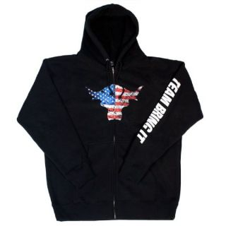 WWE The Rock Team Bring It USA Full Zip Hoodie Sweatshirt Medium
