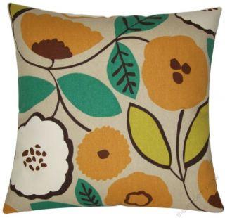 new decorative throw pillow cover 18 sq pumpkin bloom throw pillow