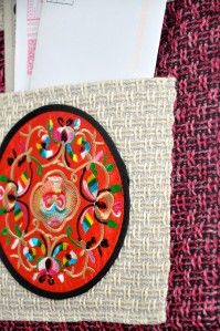 Home Decorative Ethnic Style Wall Hanging 3 Pocket Letter Card Holder