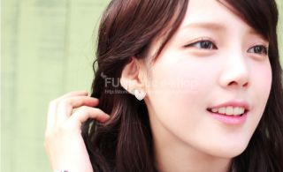 New Hot Korean Stone Earring Deep Love Handmade Earrings Made in Korea