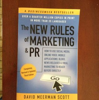 New Rules of Marketing PR by David Meerman Scott 2011 Paperback