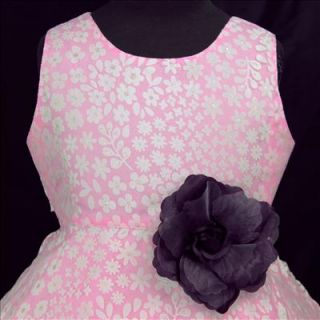 Deep Purple Pink dpp791 Wedding Communion Party Flower Girls Dress 3 4