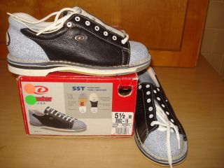 Dexter Womens Ladies Right Handed Bowling Shoes SST Navy White Size 5