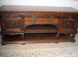 The Best Antique English Victorian Aesthetic MVMT Sideboard Circa 1870