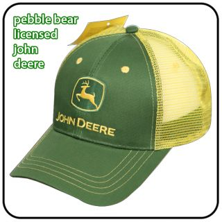 New Licensed John Deere Baseball Cap JD Yellow Mesh Hat