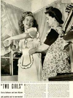 1944 article on gloria dehaven june allyson in movie