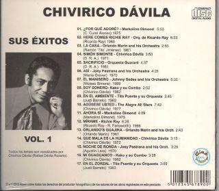 rare salsa cd CHIVIRICO DAVILA Orq Guarare Kako Markolino Richie Ray O